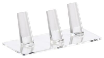 5.3 X 1.8 X 2.3 Ring Finger Jewelry Display Acyrlic Holds 3 Band Jewelry Rack