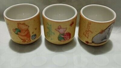 X 3 Royal Doulton Gift Collection Disney Pooh, Eeyore, Piglet Fine China VGC