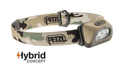 Petzl Tactikka + Plus Stirnlampe mit 350 Lumen & Batterien Kopflampe Helmlampe