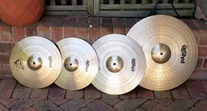 Paiste 802 Cymbals in Excellent Condition Springwood Blue Mountains Preview