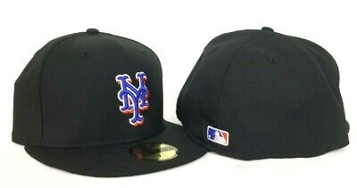 New Era Black New York Mets Official On-field Vintage Gray Bottom Fitted Hat -