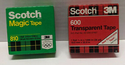 Lot Of 2 Vintage Scotch Tapesscotch 810 Magic Tapescotch 600 Transparent Tape