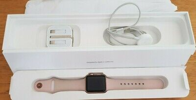 Apple Watch Series 3 Rose Gold with pink Strap  (z2)