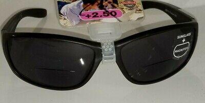 +2.50 Magnivision Bifocal Black Sport Sunglasses Sunreaders Max 100% (Magnivision Sunglasses)