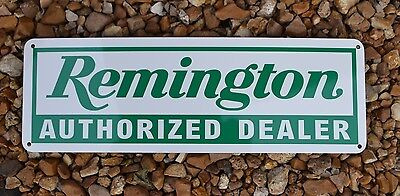 Remington Auithorized Dealer Shotgun Firearm SIGN Gun Shop Repair Logo SIGN 7day