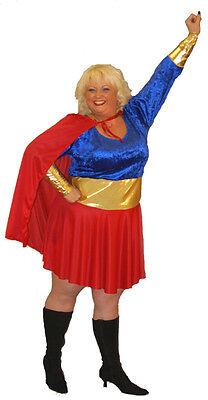 Super Hero Mädchen Helden / Bösewichte Kostüm Alle Übergrößen - Super Übergröße Kostüm