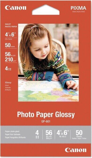 CANON 4x6 PHOTO GLOSY PAPER 50 Sheets