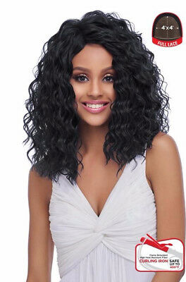 4x4 Base (4X4 MULTI PARTING LACE WIG, SWISS SILK BASE LACE NATURAL WAVY CURL (FLS10))