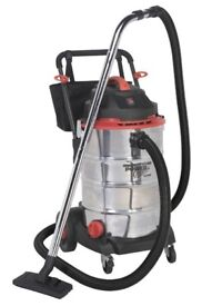 SEALEY PC460 INDUSTRIAL VACUUM CLEANER WET & DRY 60LTR 1600W / 230V CAR WASH VACUUM