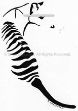 'Tas 'Tiger' - 100 x 145mm -exclusive tattoo design / art print Hobart CBD Hobart City Preview