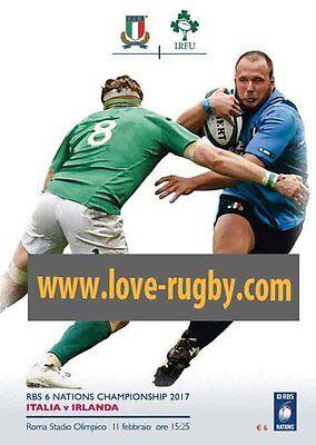 2017 - Italy v Ireland Rugby Programme - Stadio Olimpico Rome Irlanda Italia a