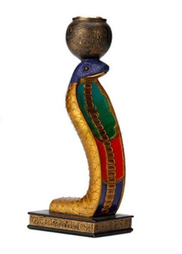 """8.5"""" Egyptian Cobra Uraeus Tealight Holder Snake Statue Egypt Decor"""