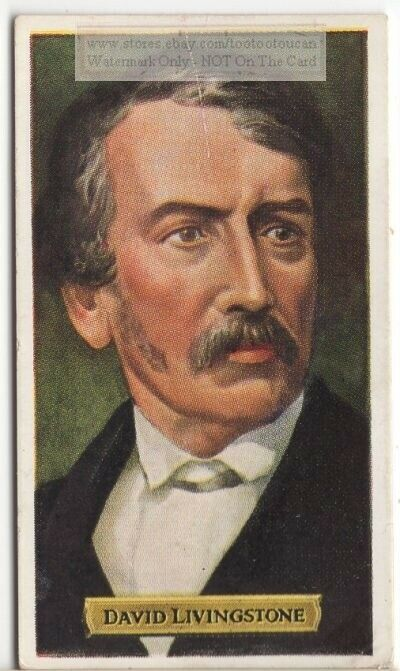 David Livingstone Scottish Missionary Africa Doctor  80+ Y/O Trade Ad Card