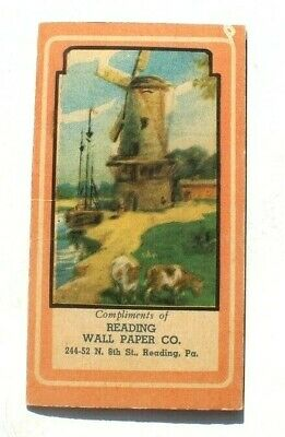 Antique Vtg Needle Book Sample Case Advertising Of Reading Wall Paper Co