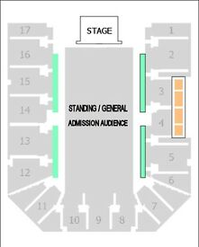 2 x Kings of Leon Tickets. Block 15 Row H. Birmingham Genting Arena. 20th February 2017.