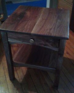 Walnut night stands or end tables - solid wood