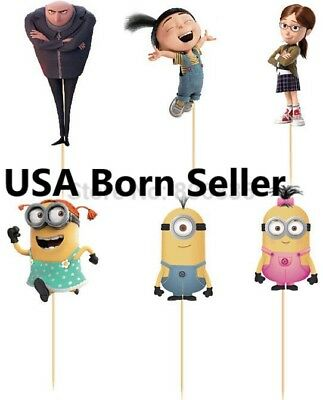 12 Pieces Cupcake Topper Cake Picks MINIONS