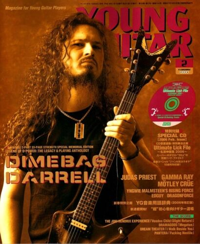 DIMEBAG DARRELL PANTERA MEMORIAL YOUNG GUITAR FEBRUARY 2006 + CD IMPORT