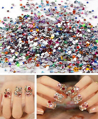 2000pcs Nail Art Mixed Shape Rhinestones Acrylic Decoration Flat back Gems on Rummage