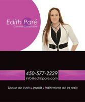 Edith Paré, Commis Comptable
