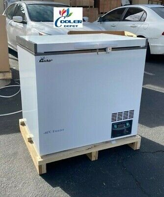 New -60c Sushi Sashimi Seafood Deep Chest Freezer Low Temperature 188l 110v