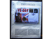 50th Anniversary of VE Day 1995 £2 Coin & First Day Cover Stamps