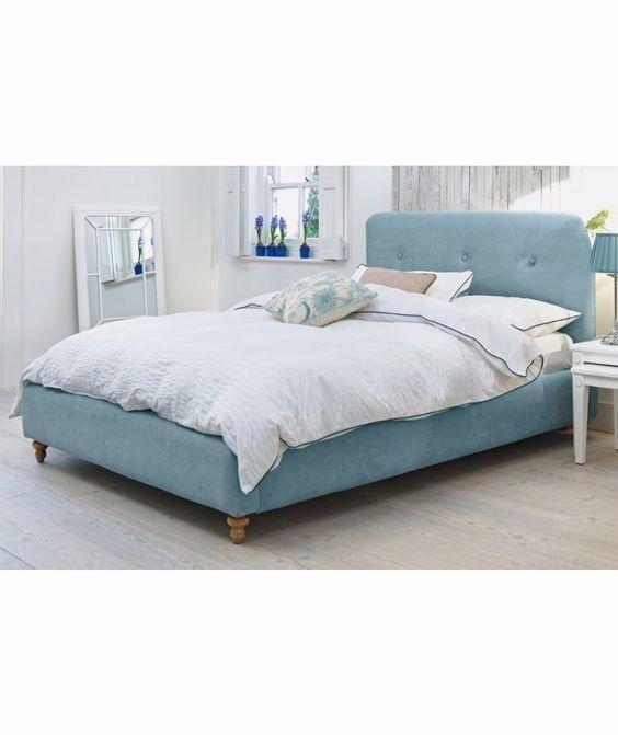Heart of House Filby Kingsize Fabric Bed Frame - Duck Egg   in ...