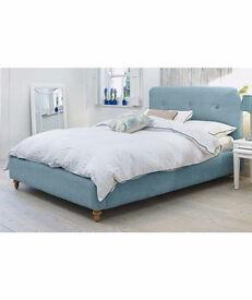 Heart of House Filby Kingsize Fabric Bed Frame - Duck Egg