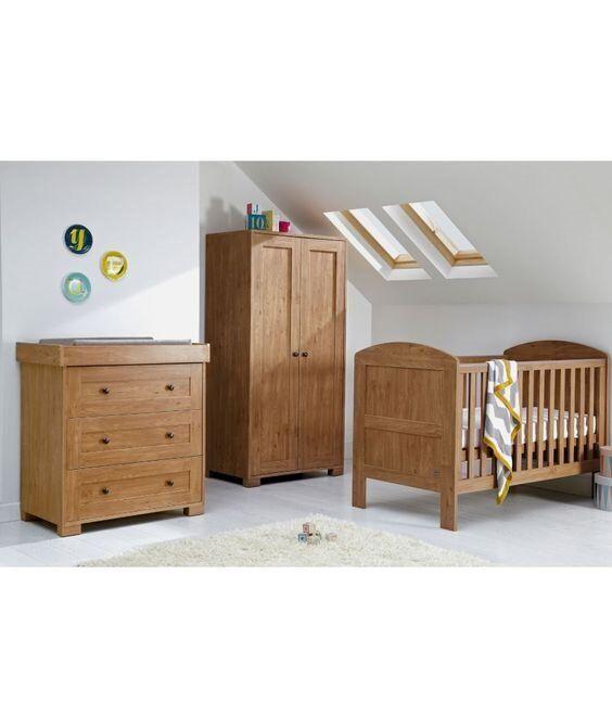 Mamas Papas 3 Piece Oak Nursery Furniture