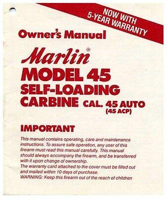 Manuals - Marlin Model