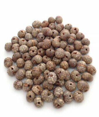 - Acaiperlen Netzmuster natur 6-14mm 100 Stück acai beads natural beads acai mix