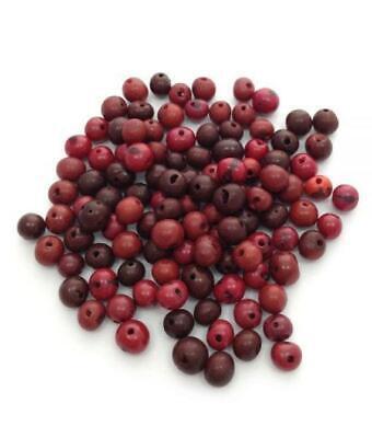 - Acai Mix Rottöne 6-14mm 100 Stück Azaiperlen acai beads natural beads acai mix