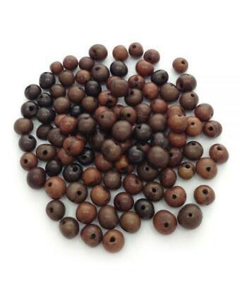 - Acai Mix Brauntöne 6-14mm 100 Stück Azaiperlen acai beads natural beads acai mix