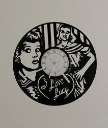 I Love Lucy Vinyl Record Clock Home Decor Unique Gift Recycled