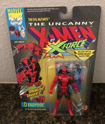 1992 THE UNCANNY X-MEN X-FORCE DEADPOOL ACTION FIGURE  (NEW/SEALED) VERY RARE!!!