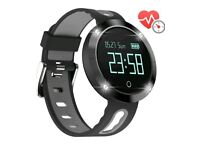 Fitness watch with heart rate monitor.