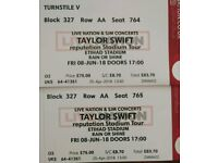 Taylor Swift Concert Tickets 8th June Manchester