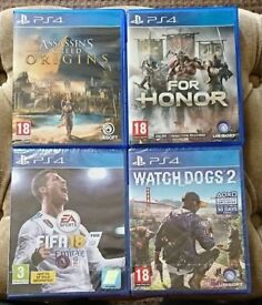 PS4 Games. Watchdogs 2, FIFA 18 and For Honor.
