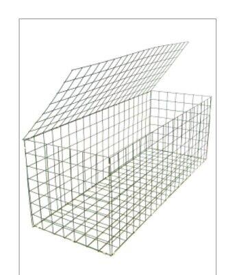 Galvanised Steel Gabion Basket 200cm x 100cm x 100cm Stone Basket Cage