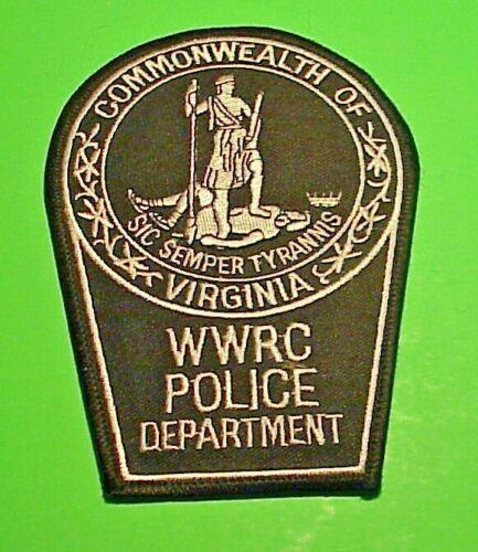 "VIRGINIA WOODROW WILSON REHABILITATION CENTER WWRC 5 1/4"" POLICE  FREE SHIPPING"