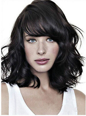 Sexy Women Black Wig Short Wavy Curly Wave Full Wigs Synthetic Cosplay Wigs US ()