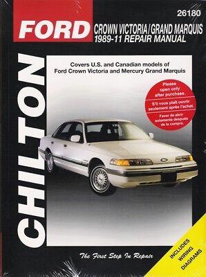 1989-2011 Crown Victoria & Grand Marquis Chilton Service Repair Manual Book (Grand Marquis Repair)