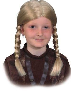 Mädchen Wikinger Kostüm (Kinder Perücke Wikinger Mädchen zum Gretel Kostüm an Karneval Fasching)