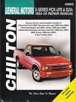 Gmc Jimmy Sonoma Manual (1994-2005 S10 Sonoma Blazer Jimmy 4x4 Envoy Repair Service Shop Manual Book 3580 )