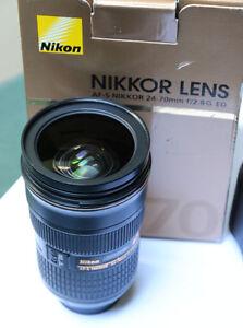 Nikon Nikkor 24-70mm F2.8 lens