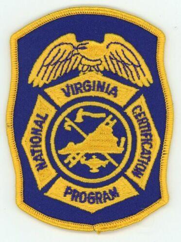 VIRGINIA VA NATIONAL CERTIFICATION PROGRAM NEW PATCH FIRE EMS RESCUE