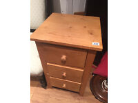 Wooden cabinet with 3 drawers Feel free to view L 16 D 16 H 27 in