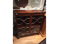 Large Display cabinet with glass doors , lock and key , free Local delivery