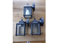 3 x Outdoor Matching Coach Lights. 2 x New, 1 x Used.
