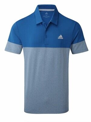 New adidas Golf Ultimate 2.0 All Day Golf Polo Shirt Blue Large RRP £50 EC7060